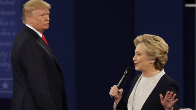 Trump v Clinton second Presidential debate