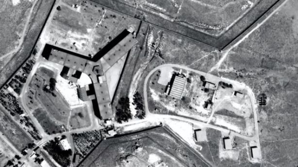 Image Copyright Amnesty International- Amnesty International says Saydnaya prison may hold between 10,000 and 20,000 people.
