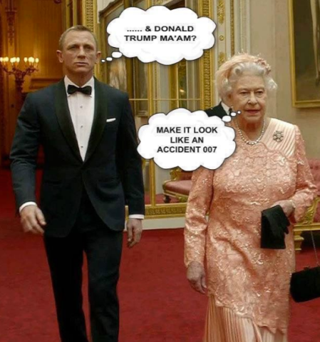 The internet is full of funny memes about the Queen and Donald trump. This is our personal favourite.