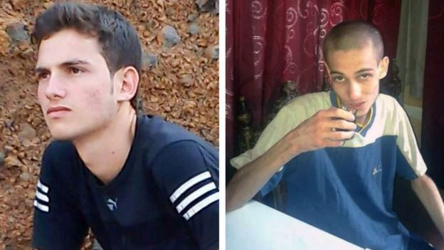 A detainee before his imprisonment, and after, his release from the prison.